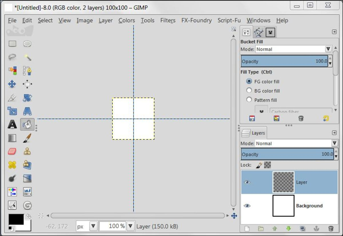 Fig. 1  Creating background with Polka Dot pattern in GIMP 2.8