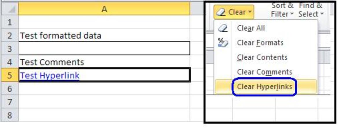excel how to clear redo menu