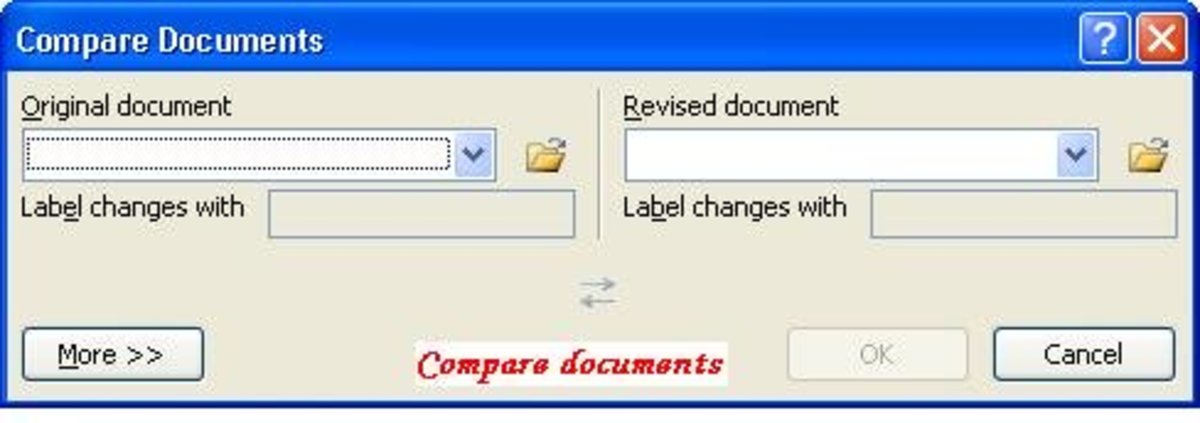 Compare documents option