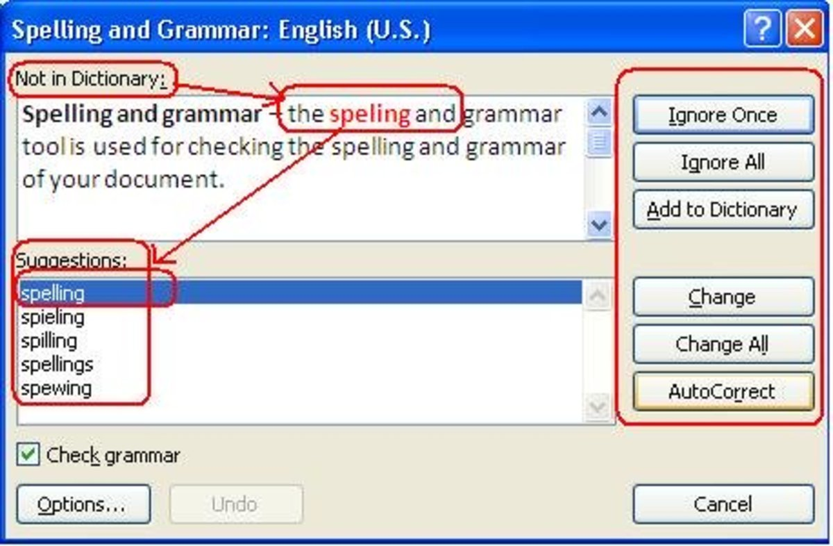 How to use the Spelling and Grammar tool