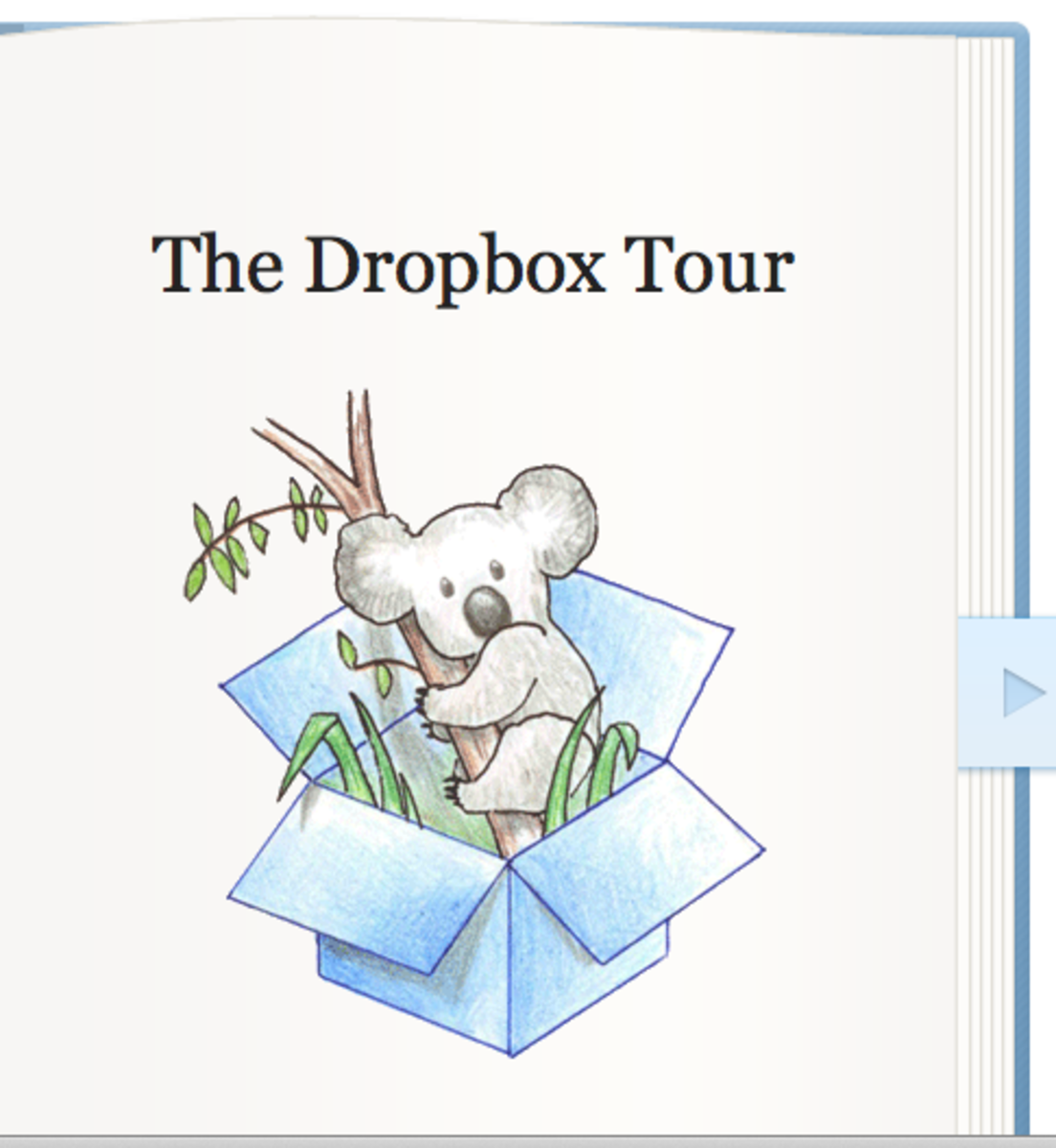 A screenshot of the first page in the online tour