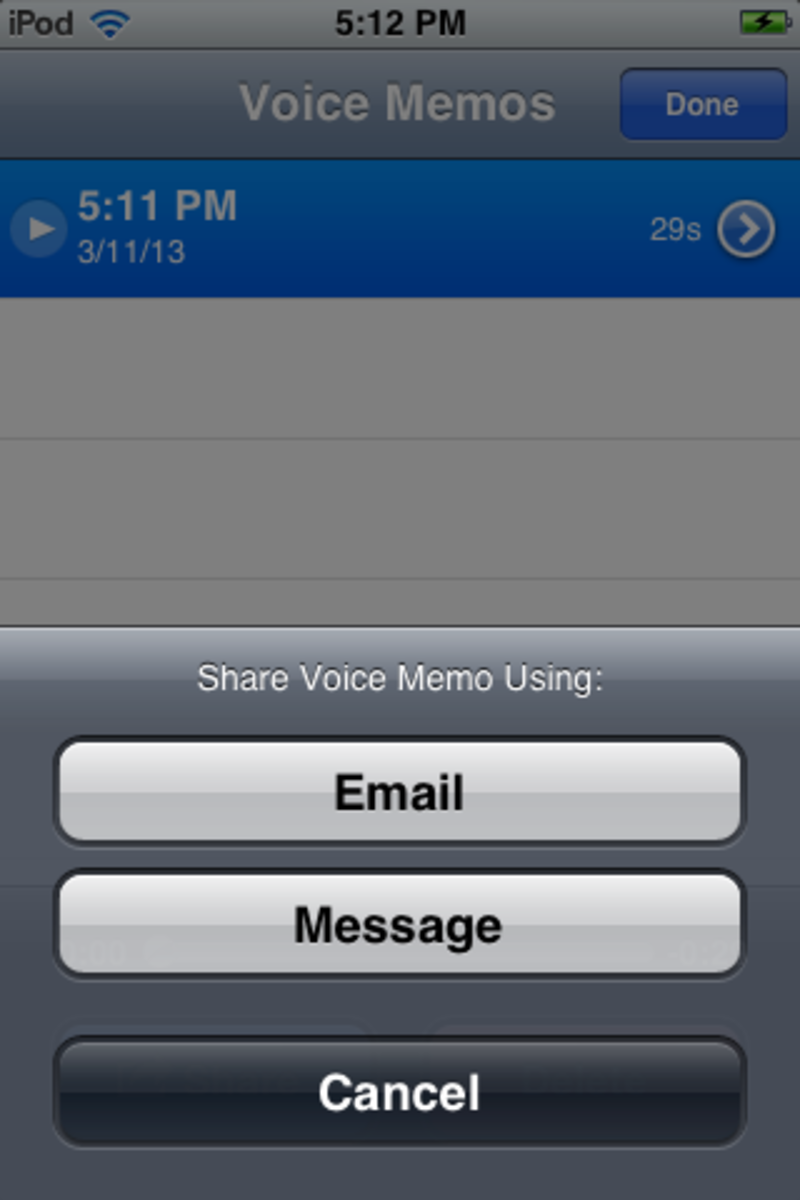 Sharing audio from a mobile device to email is an easy process.