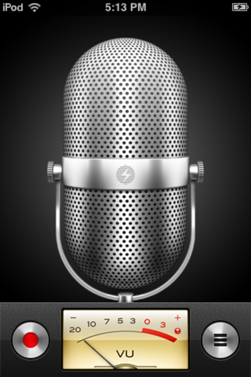 "The iPhone's ""Voice Memo"" app allows you to record an audio message."
