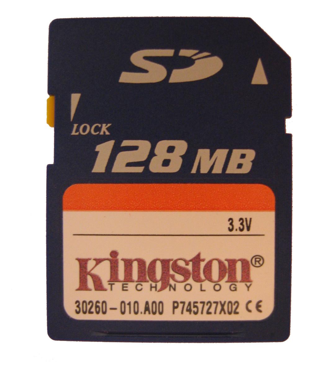 An example of a MicroSD card.