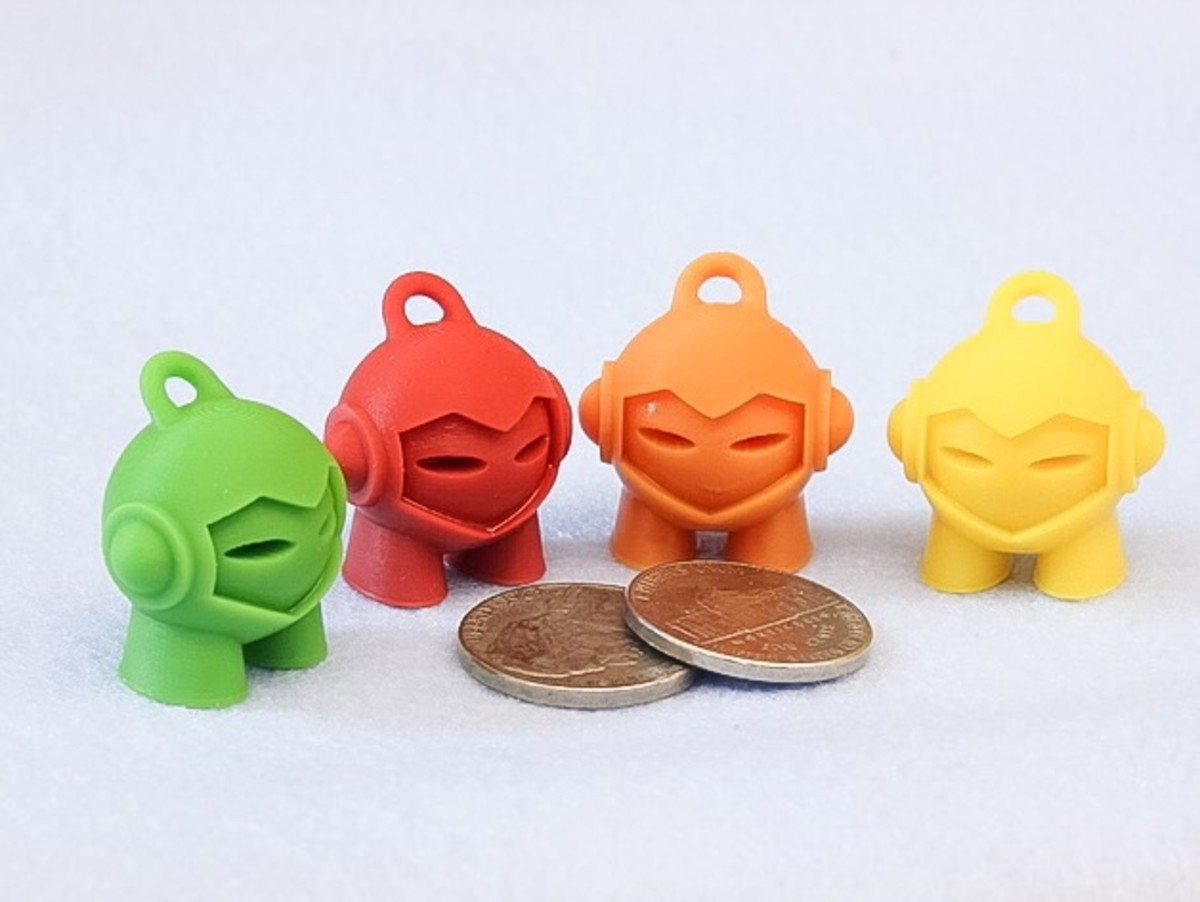 3D printed Marvin keychains