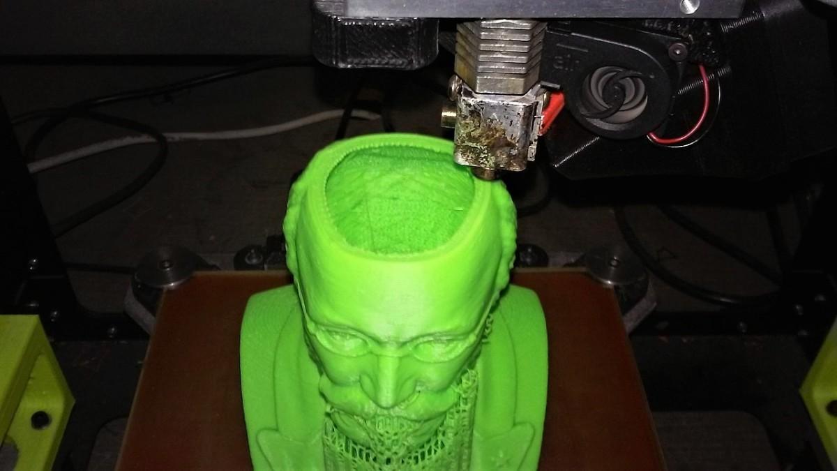 A model depicting the head of L. L. Zamenhof, the creator of the Esperanto language