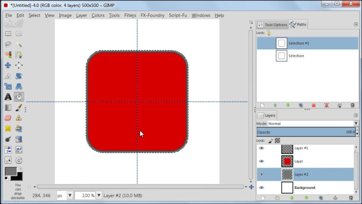 Fig. 7  Making a square glossy button with carbon fiber pattern in GIMP 2.8