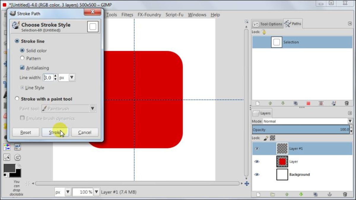 Fig. 5  Making a square glossy button with carbon fiber pattern in GIMP 2.8