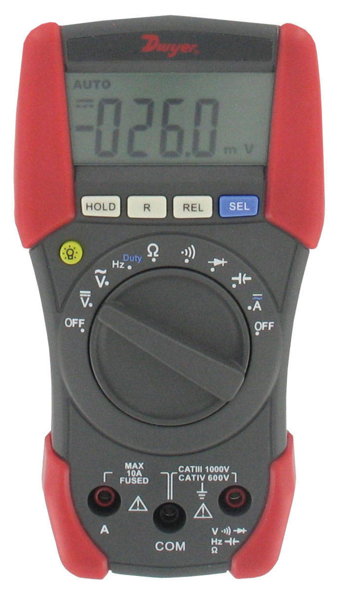 An auto-ranging multimeter does not need to have different value positions at the central knob, because it can sense the range of the value measured and switches to the best selection automatically.