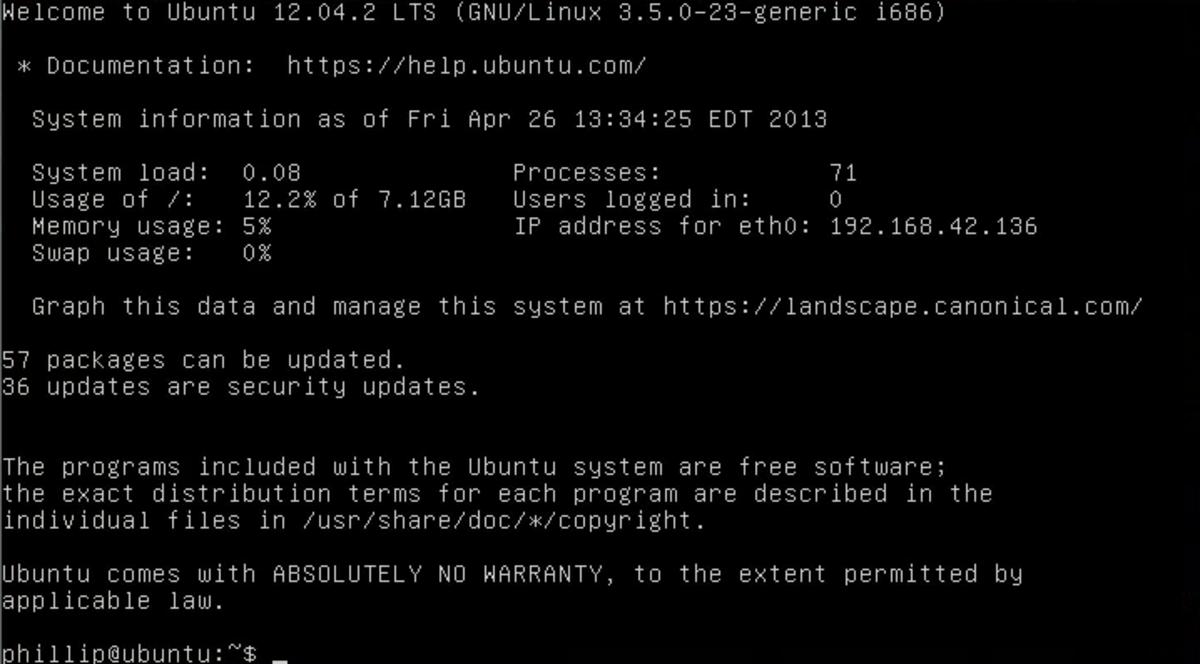 The Ubuntu server is a light, basic operating system designed to manage files.