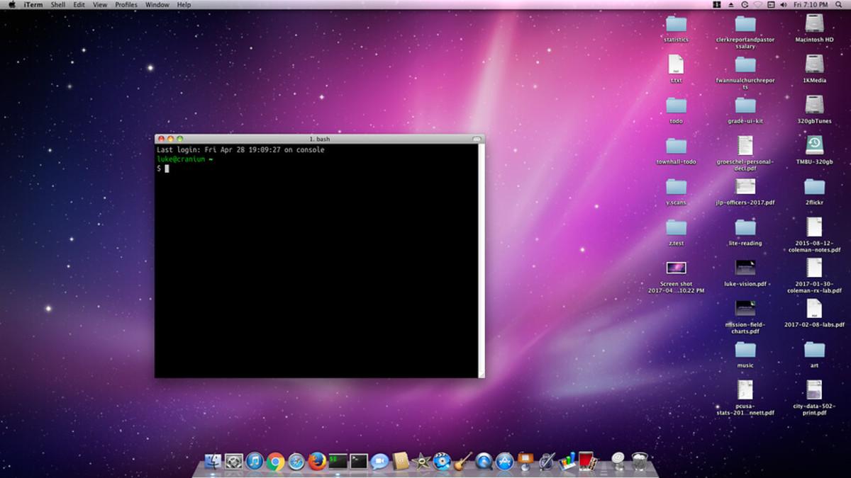 A Mac desktop graphical interface.