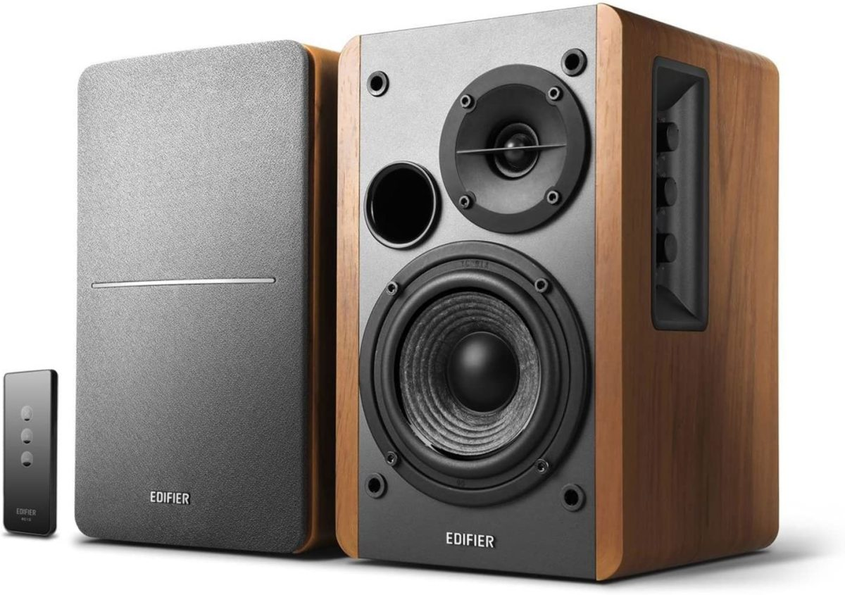 Edifier R1280T Powered Bookshelf Speakers.