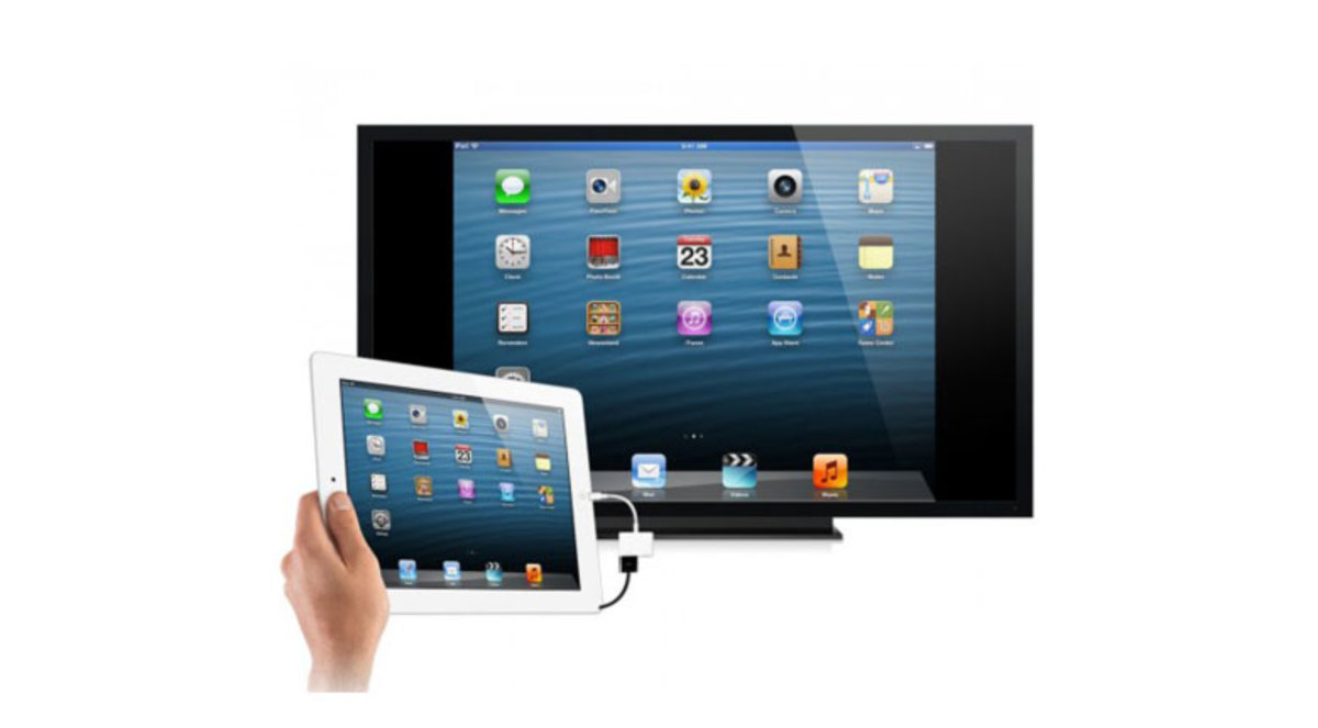 iPad to TV with HDMI cable (wired)