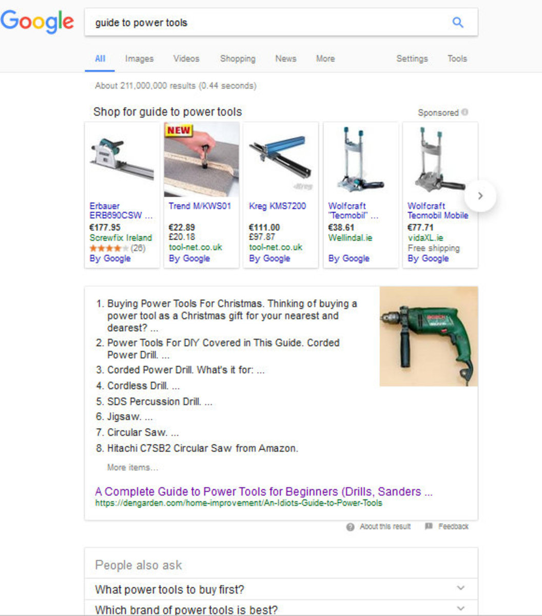 A featured snippet