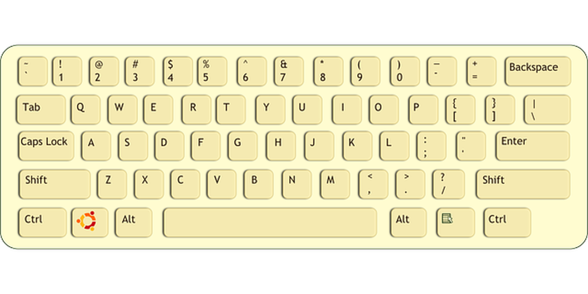 Standard layout for any keyboard, may it be Macbook or any other.