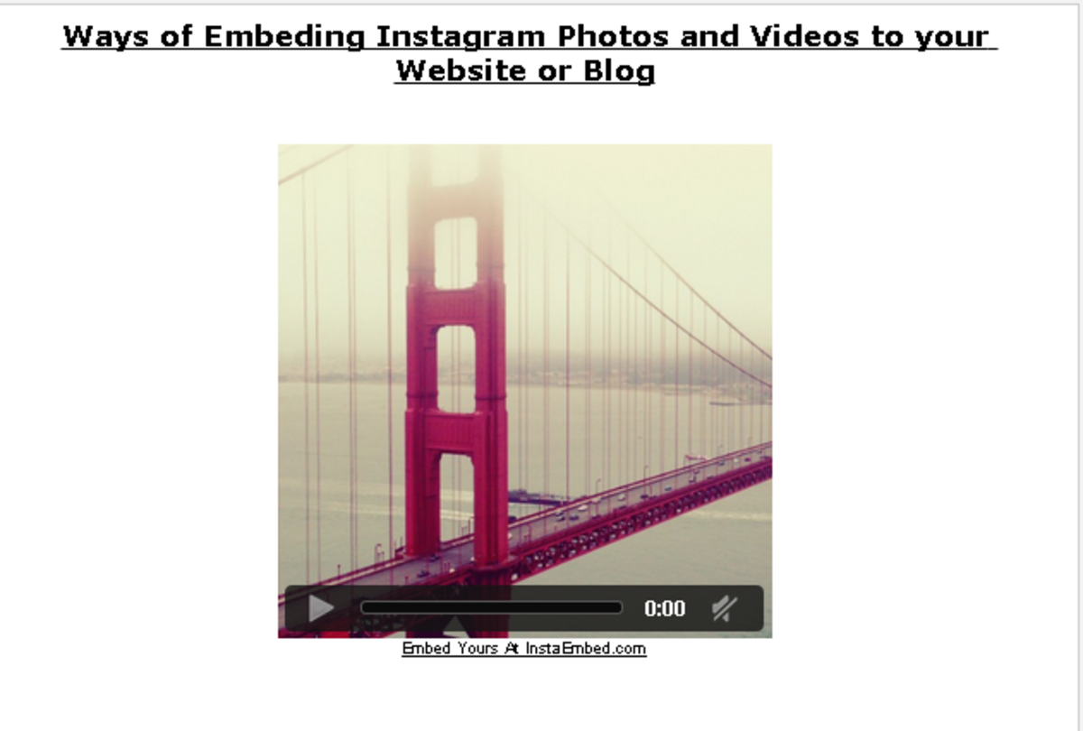 Embed your Instagram video and Enjoy