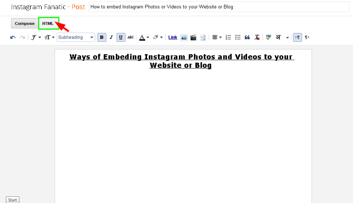 Go to html mode on your Blog platform