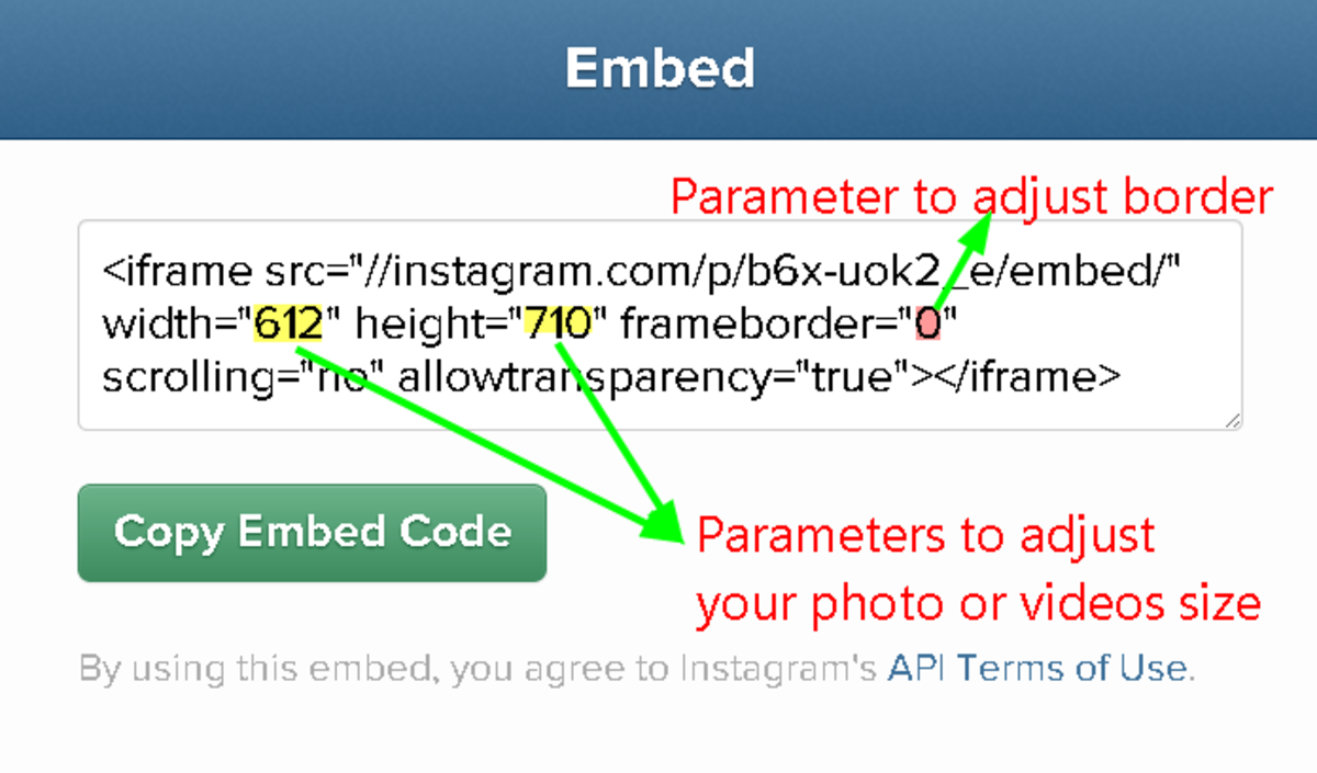 How to Configure your Instagram photo and video Embeds