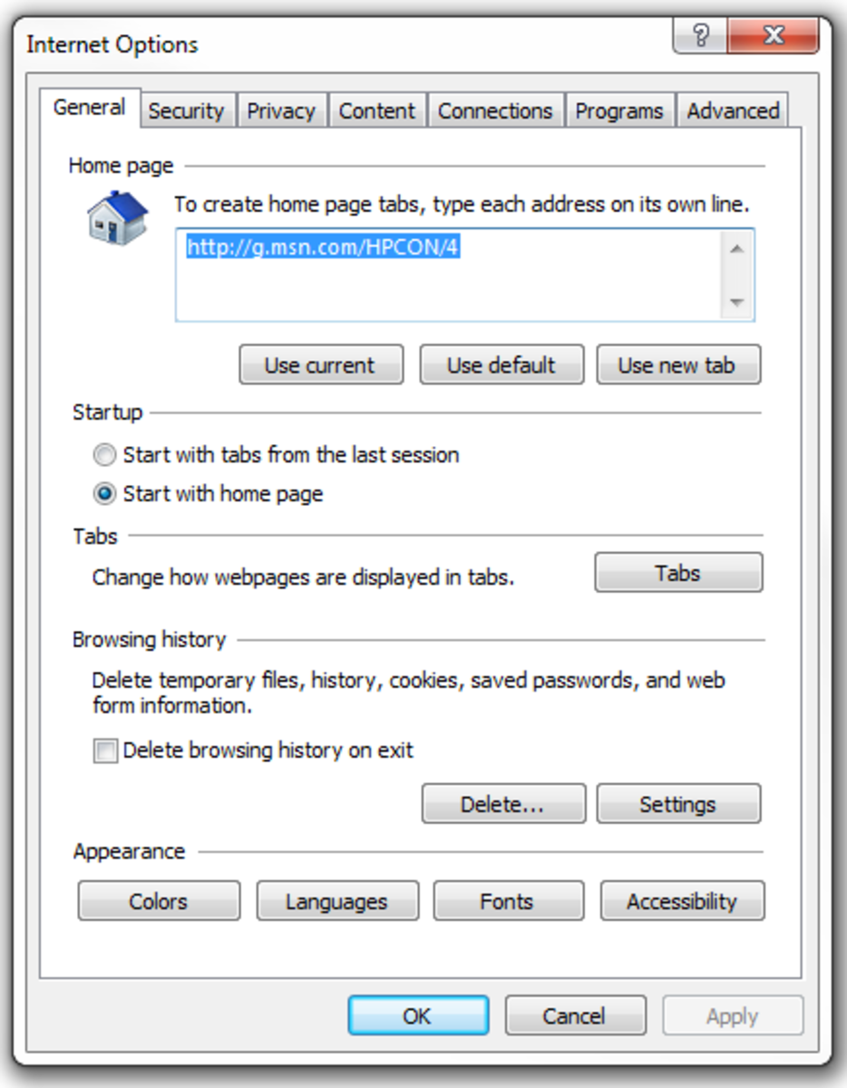 Select the Content tab in the Internet Options window to see the settings for Content Advisor.