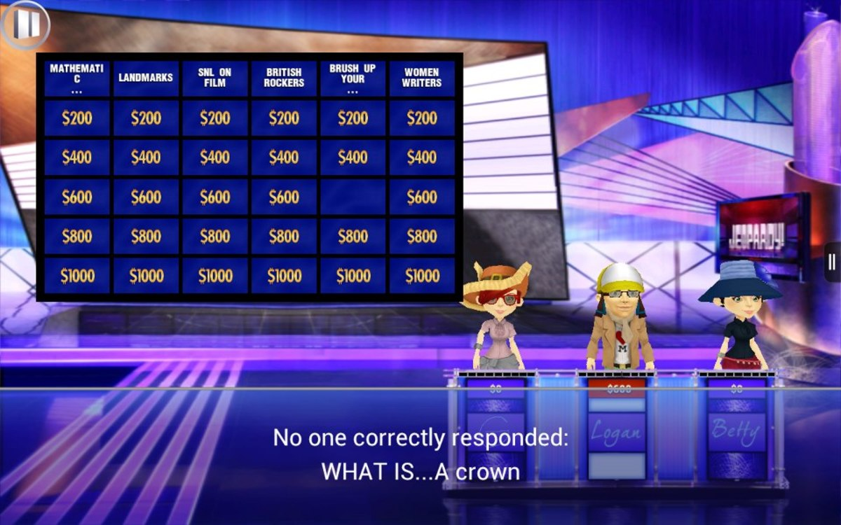 Jeopardy as we know and love it. Hopefully they'll make the Rock N Roll version. I really miss that.