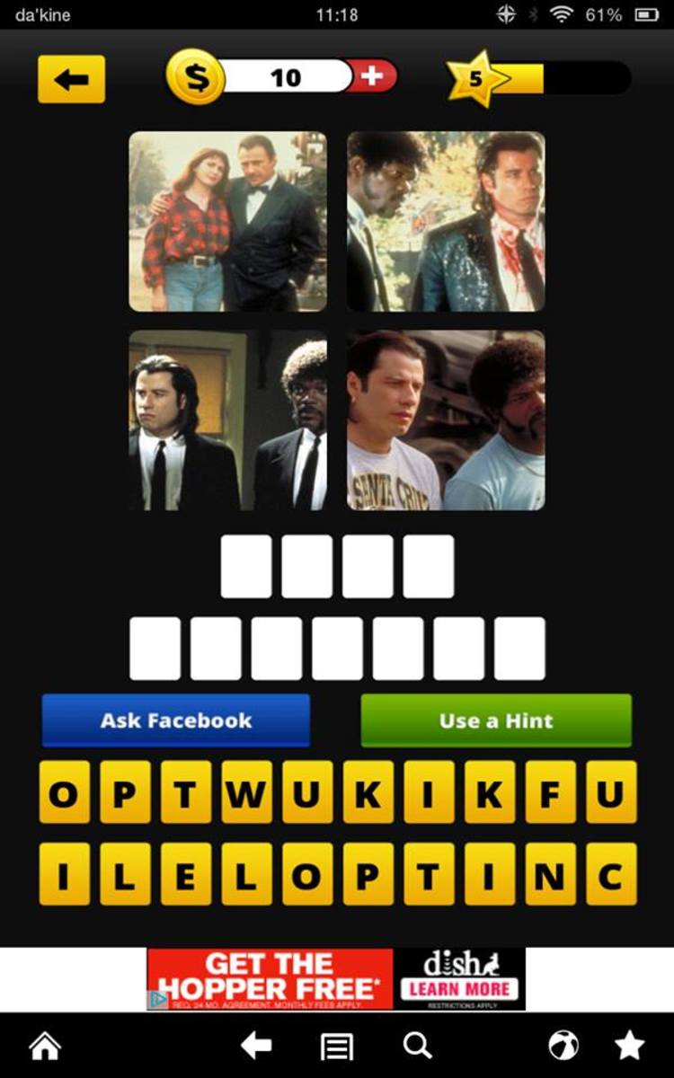 This question is one of the easier ones in 4 Pics 1 Movie. Some of them are really tough!