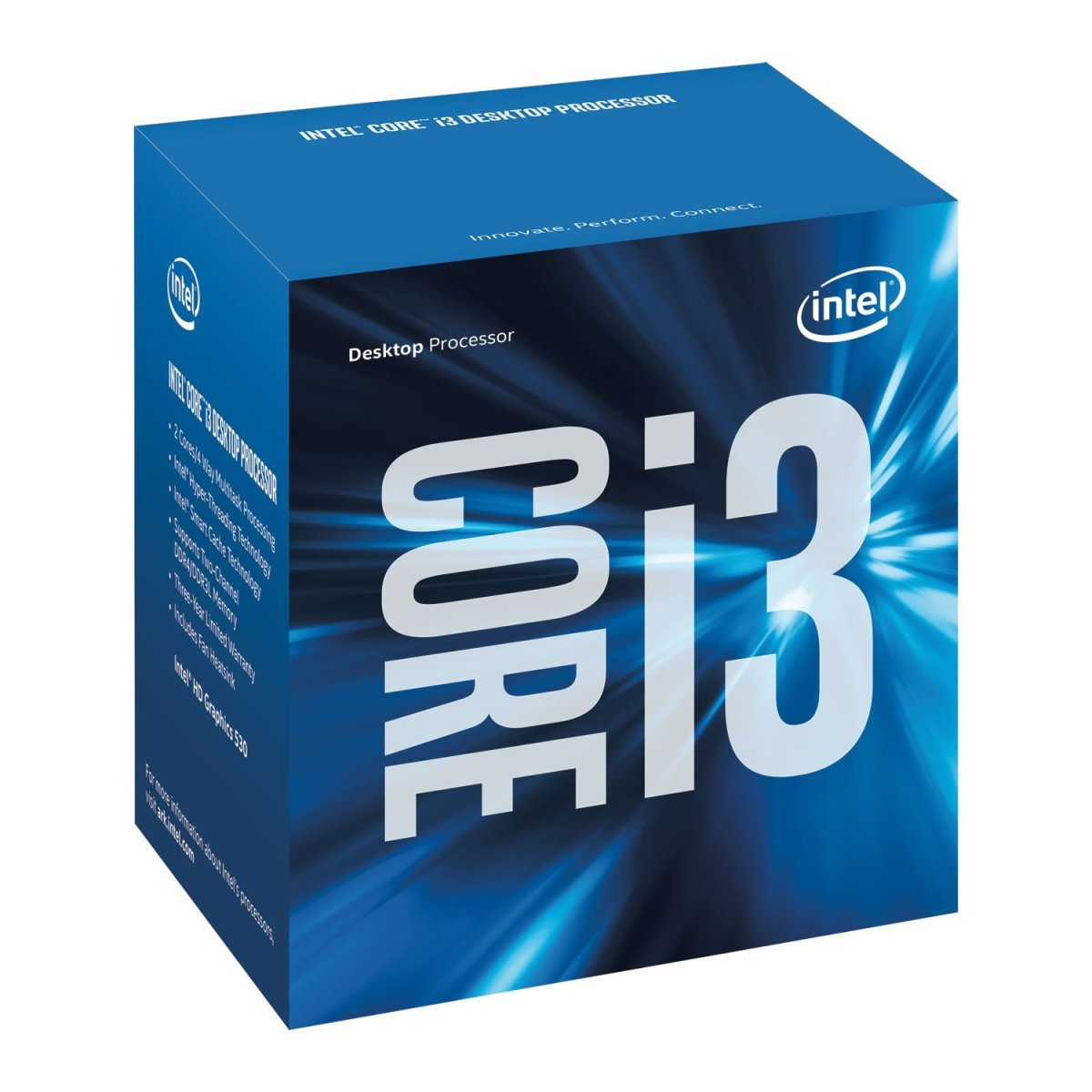 The i3-7100 makes gains vs. Intel's previous Skylake i3-6100 and comes in at a similar price.