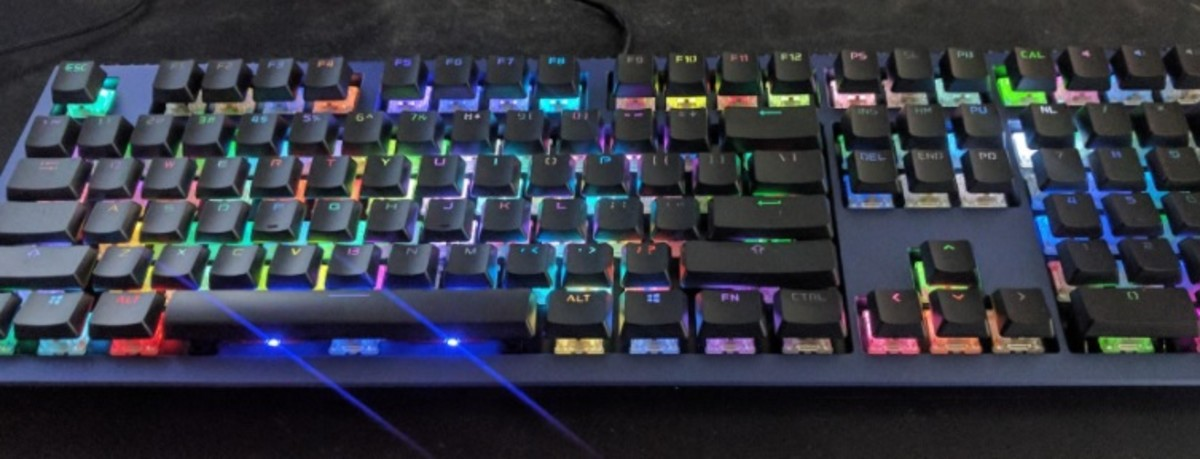 The Ducky Shine Mechanical keyboard allows you to customize your backlighting and MX switch options. Above is a close look at the Ducky Shine 6 Special Edition.