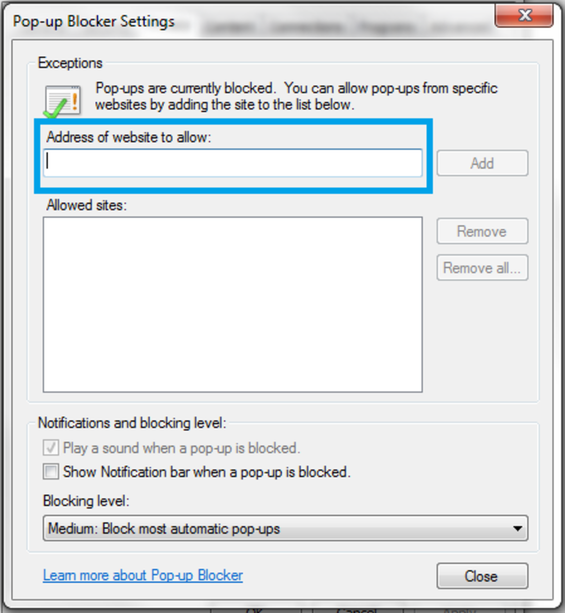 How to Turn Off Pop-Up Blocker in Internet Explorer 10