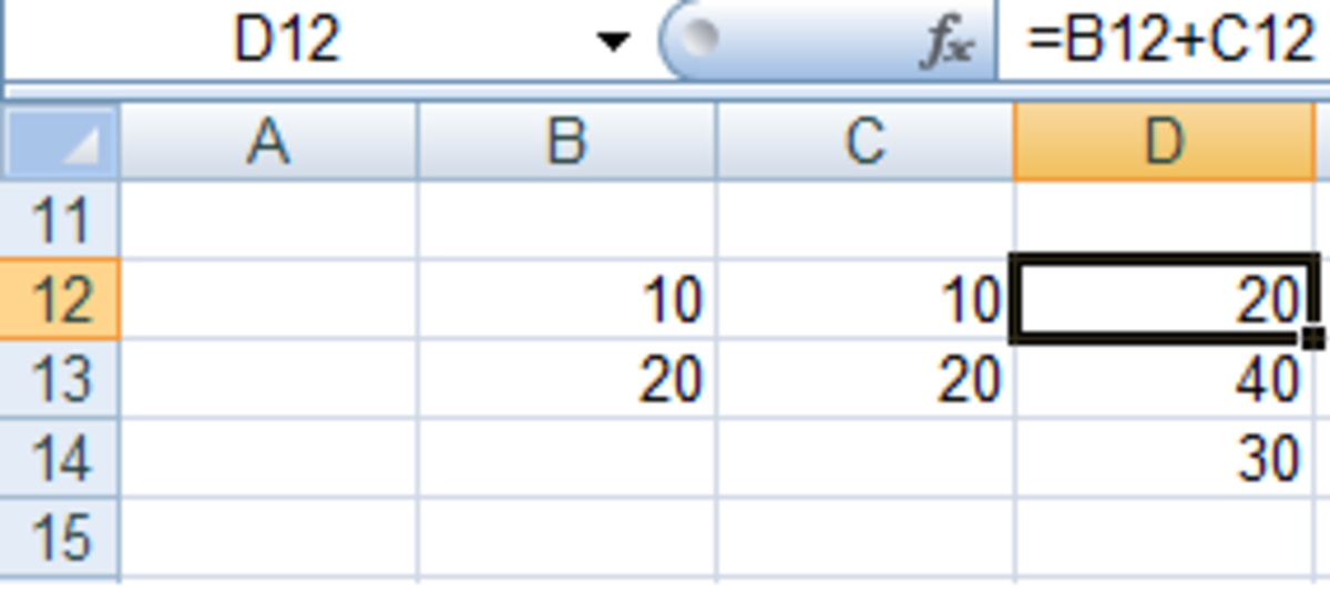 An Excel formula without using $ to change a cell to an absolute reference in Excel 2007 and Excel 2010.