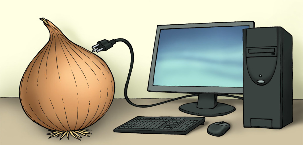 Onion networks keep you anonymous online.