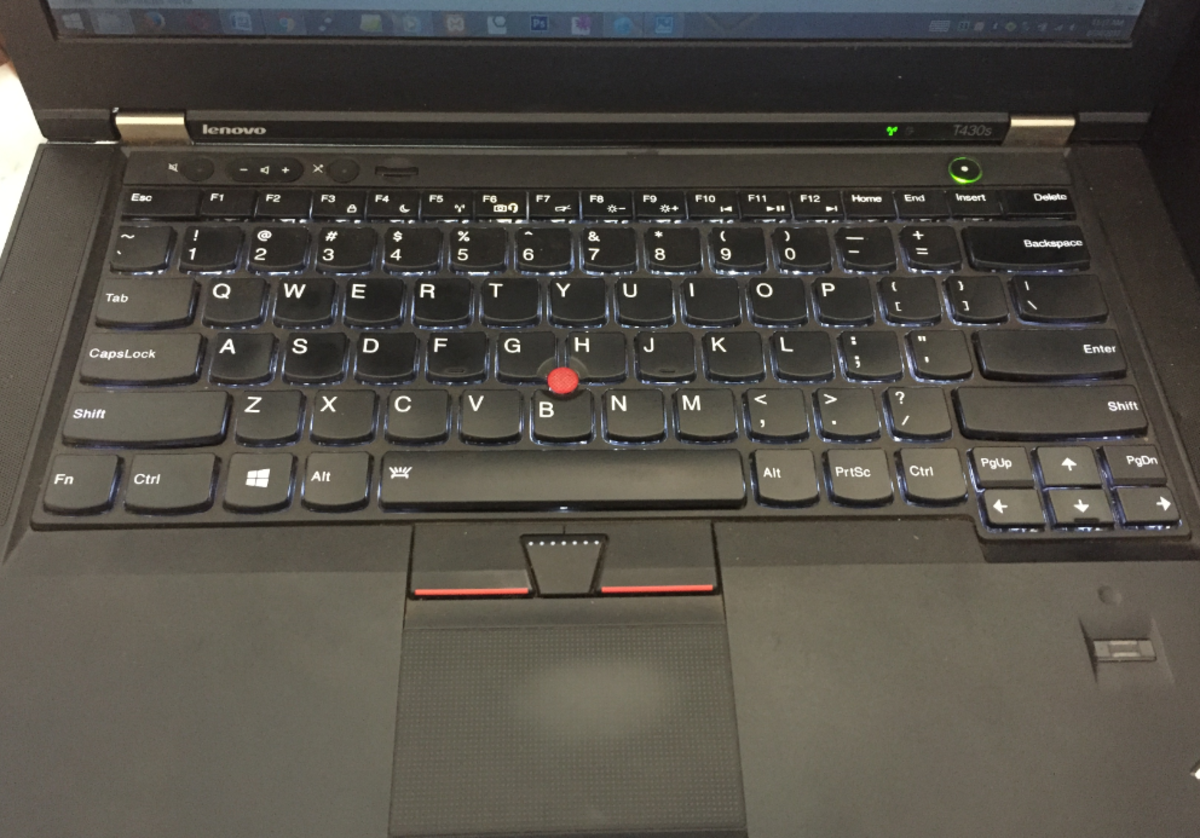 Laptop keyboard and touchpad