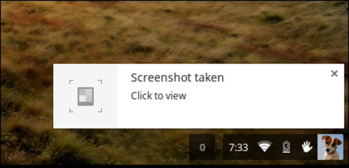Chromebook Captured Screenshot Notification