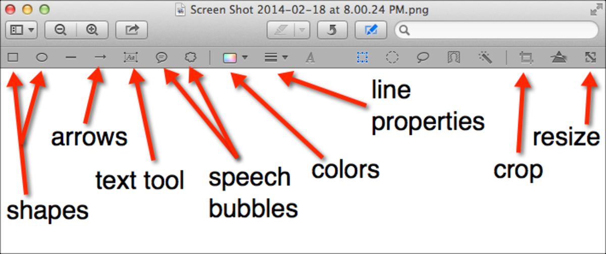 Preview annotation tools