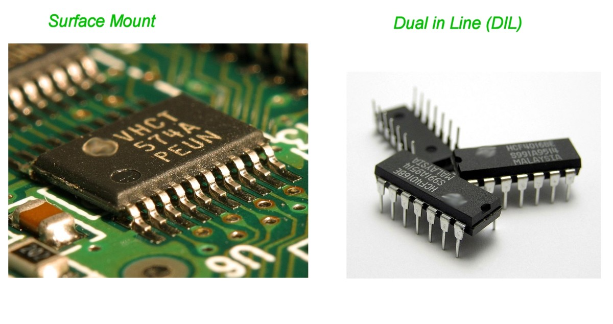 An ADC is often an IC (chip) like the ones above