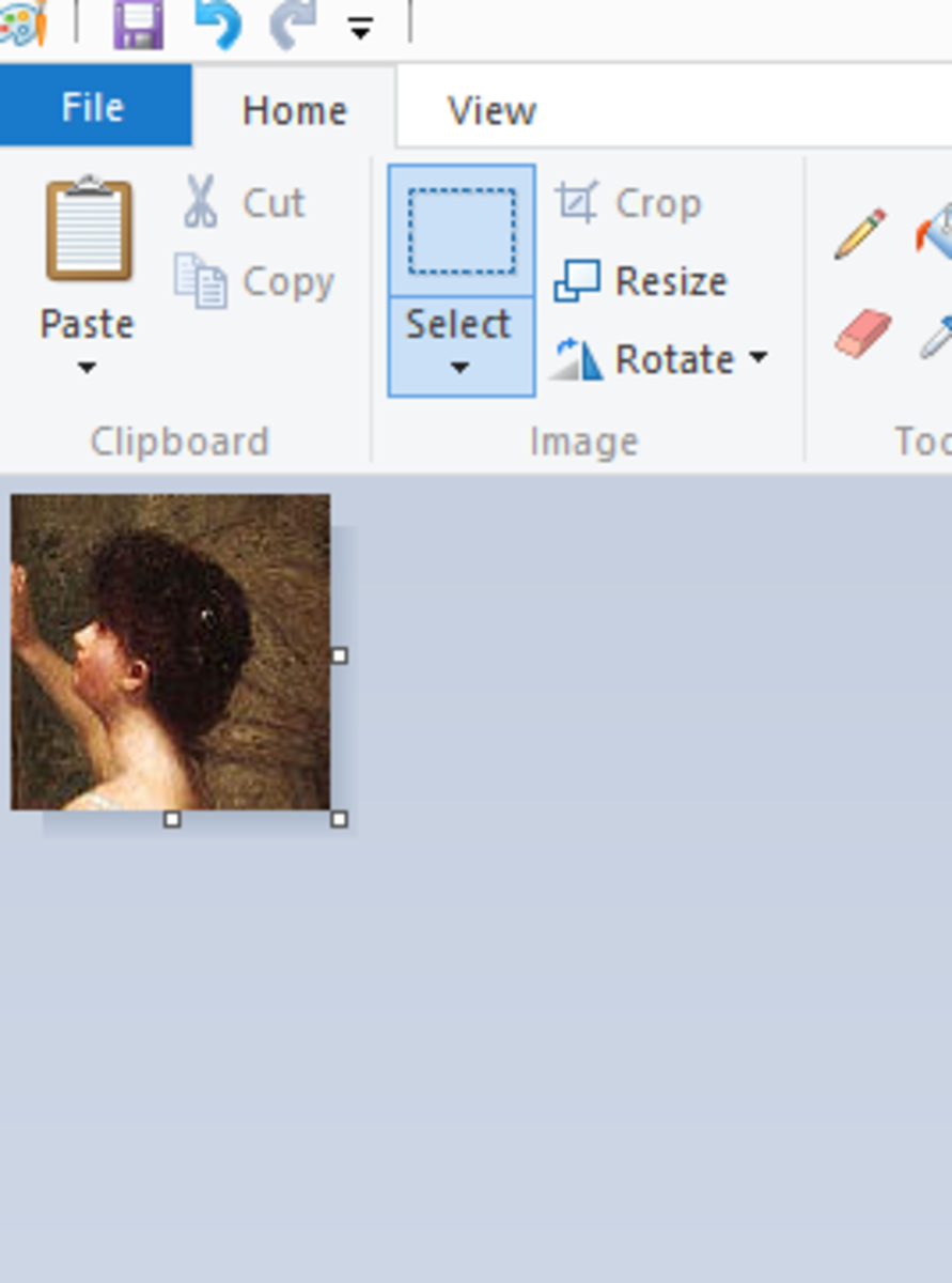 You should now see your cropped image in Paint.