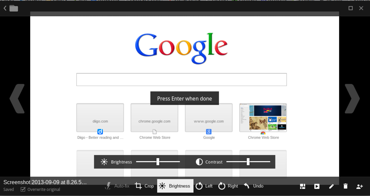 The Chrome OS image viewer