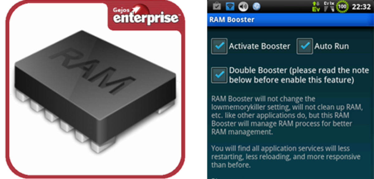 RAM Booster will help your phone's operating speed by clearing out unnecessary usage.