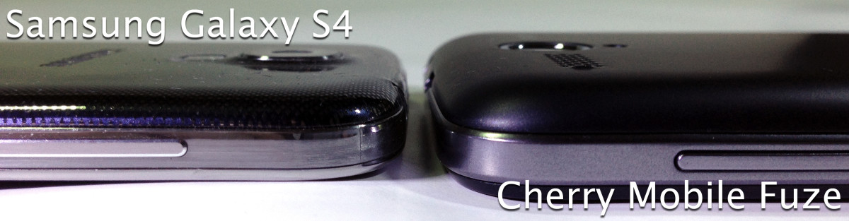 Thickness comparison: CM Fuze vs Cloudfone Thrill 430x and Samsung Galaxy S4