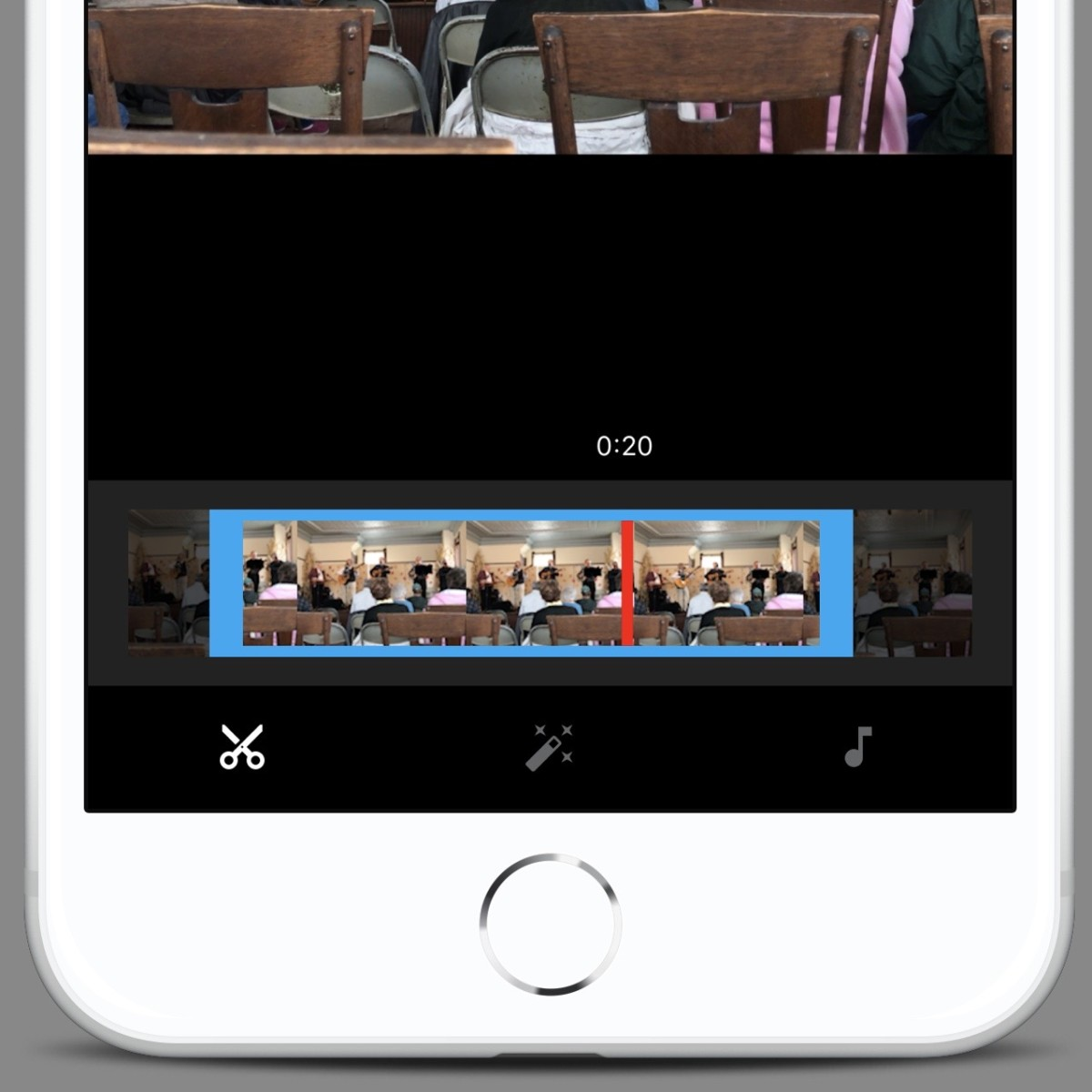 Use the trim tool to edit YouTube videos on mobile devices