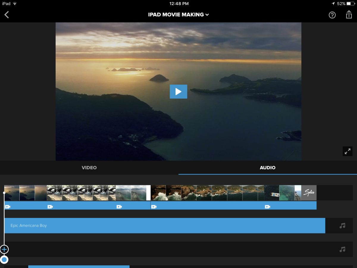 Splice is a great, free, alternative to iMovie on the iPad