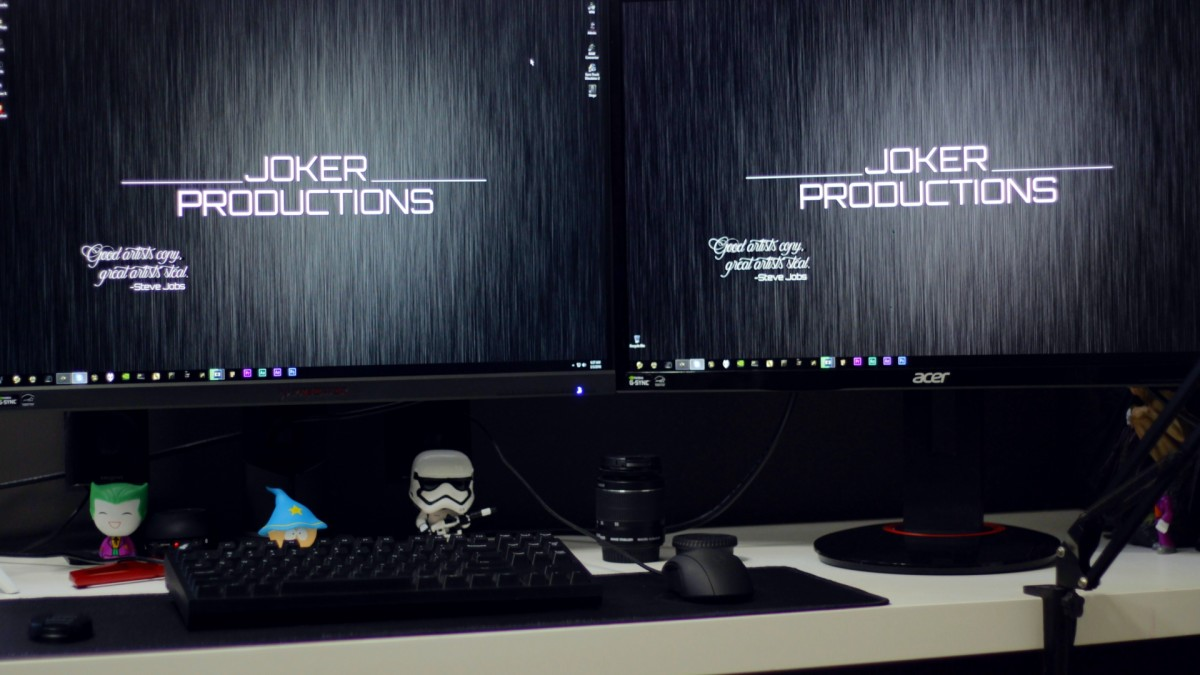 Here's a look at the Acer XB271HU on the left as well as last year's model, the XB270HU, on the right. Thanks to Joker at Joker Productions for sending me this picture.