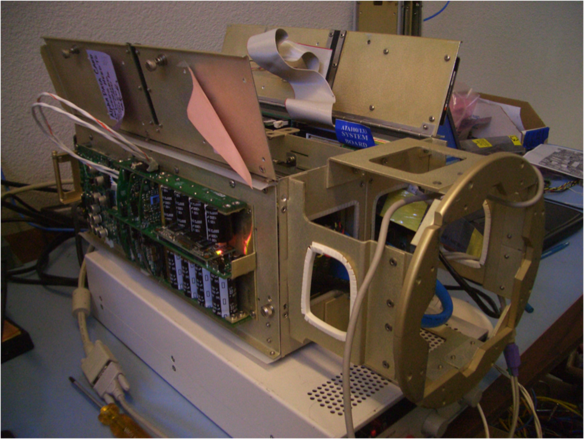 A production assembly, which itself is a sub assembly, using the sub assembly shown above
