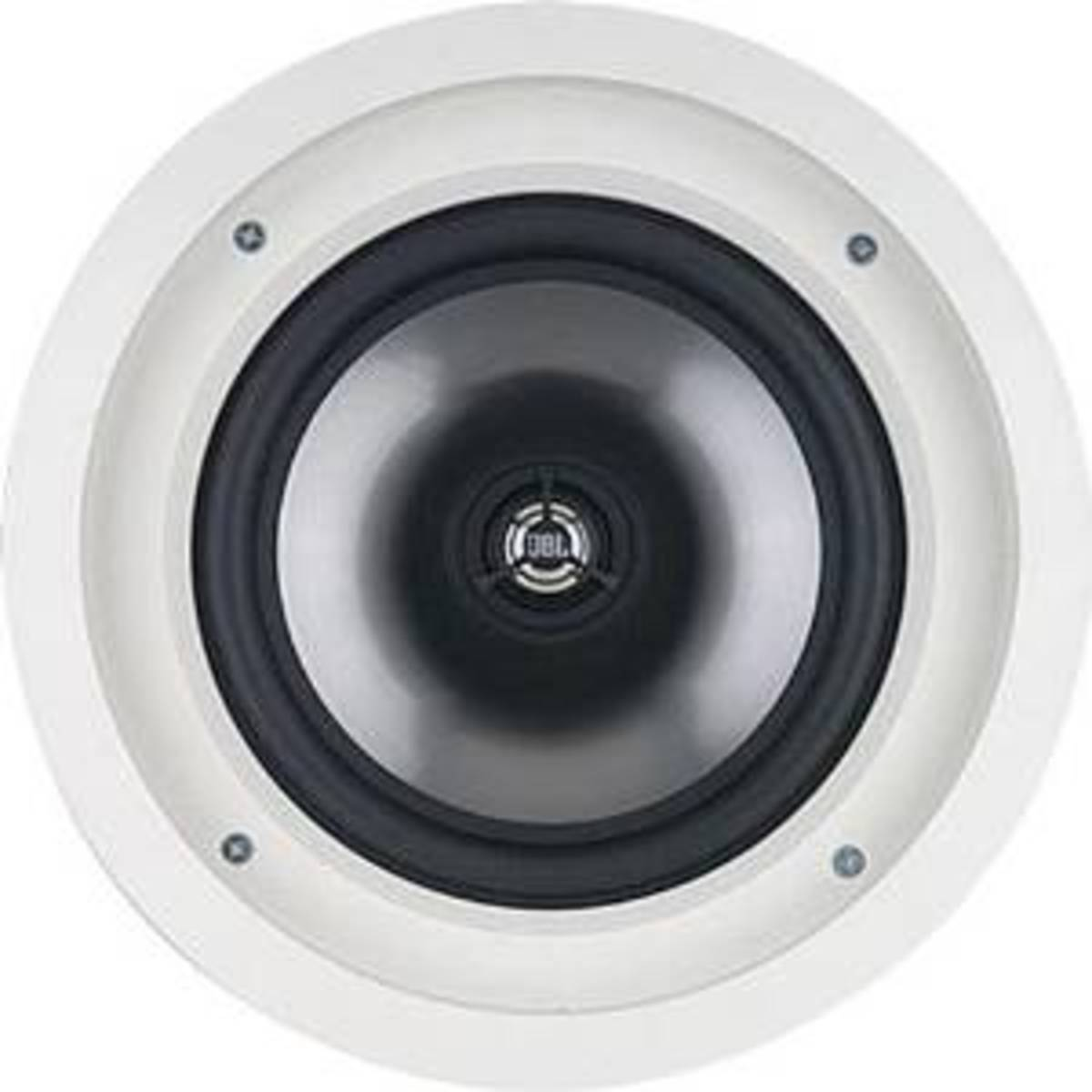 JBL SP8CII in-ceiling speakers, best for bass lovers.