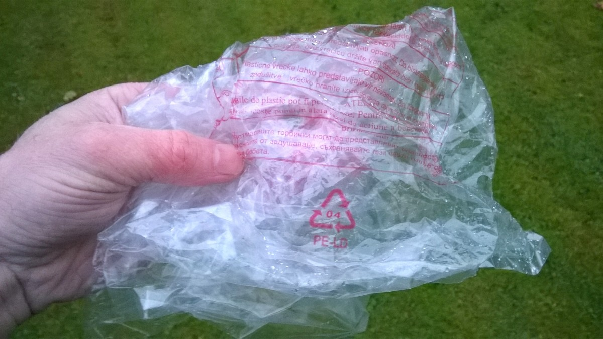 Soft clear plastic bags