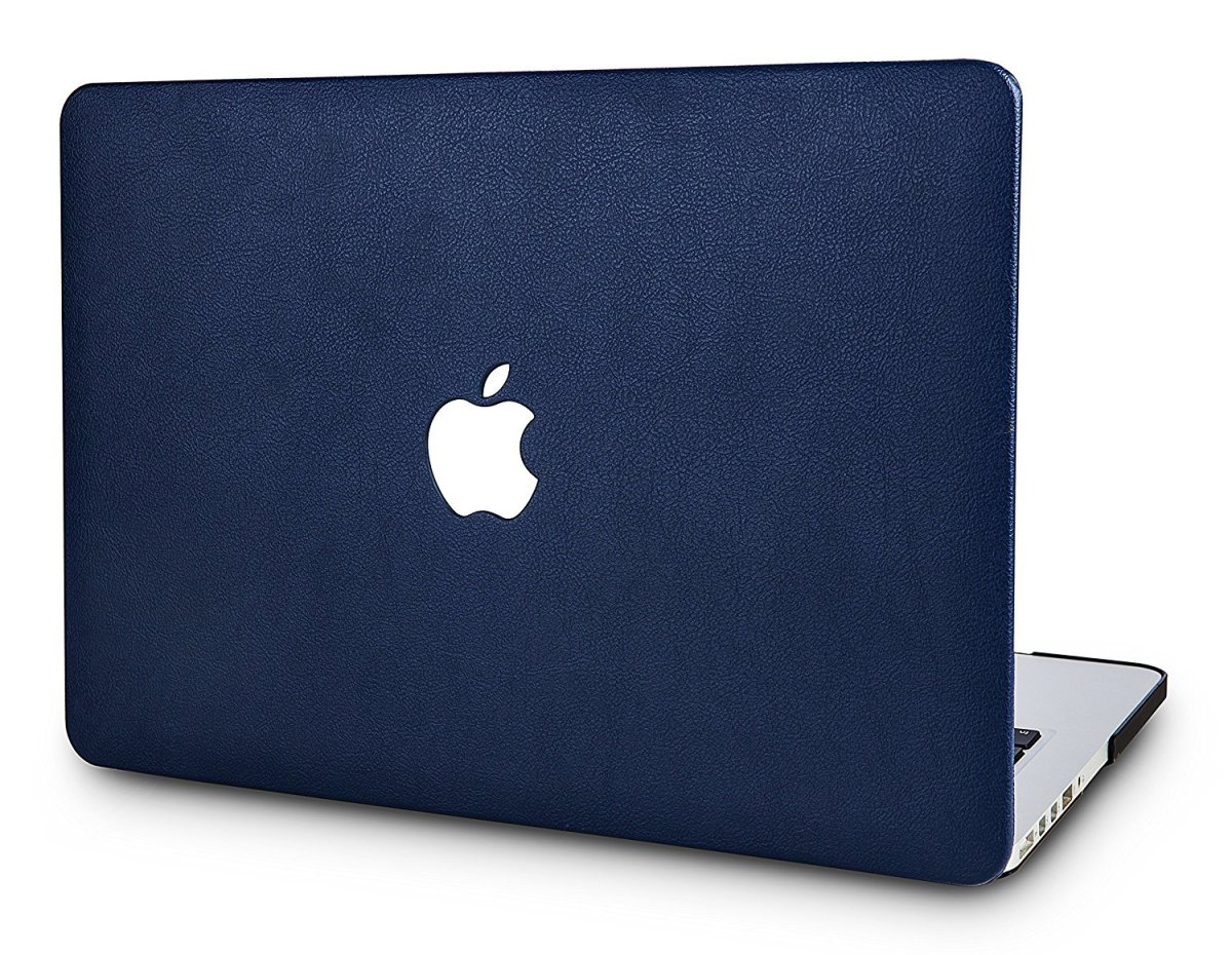 The KEC. Lightweight and slim, this case doesn't add much bulk to the Mac, making it easy to carry around in a bag.  It's also strong enough to protect the machine from bumps and scratches. I picked the blue leather look, but there are other choices.