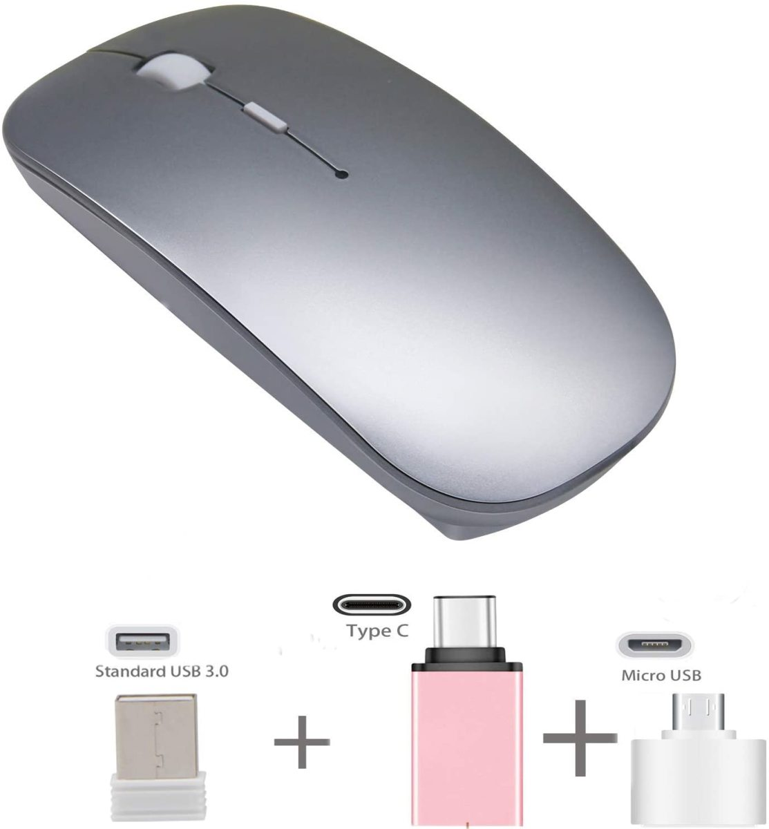 The Azmall 2.4GHz Slim Optical Rechargeable Wireless Mouse.