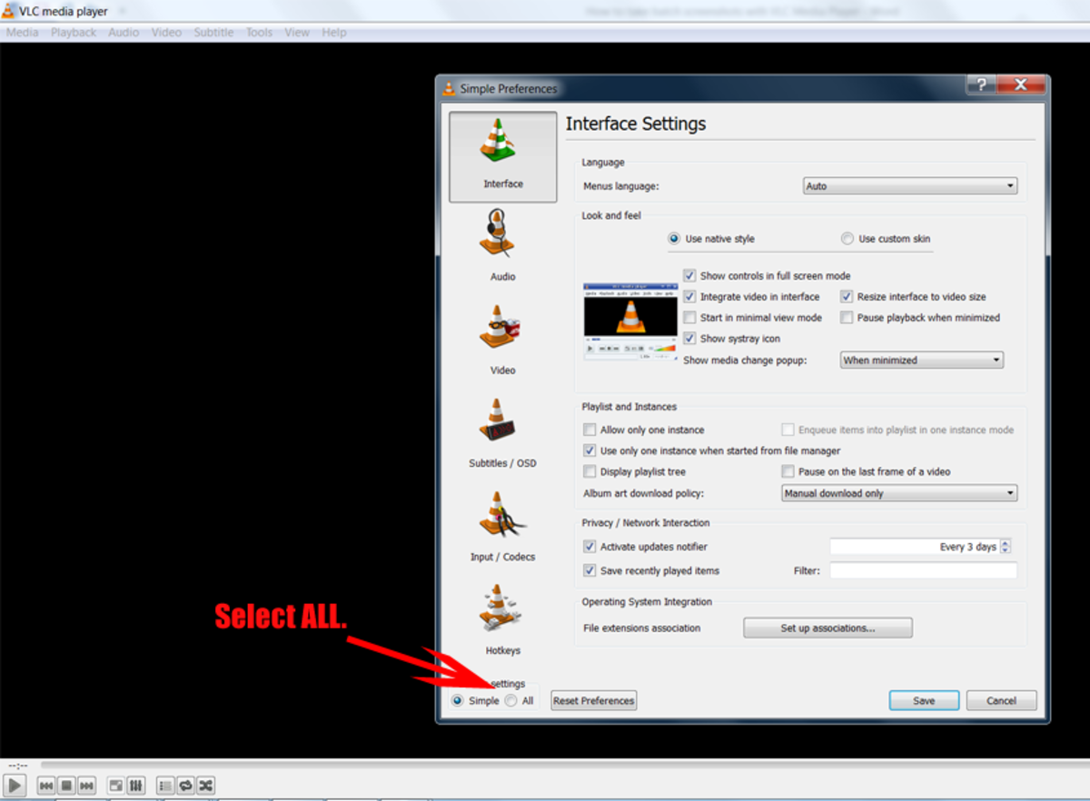 Taking batch screencaps with VLC Media Player tutorial image.