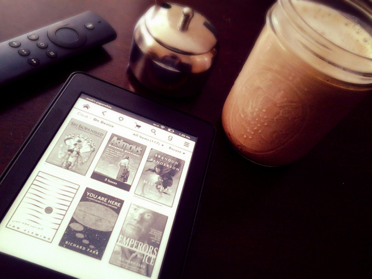 My Kindle and a cup of coffee are one of my favorite combinations. Add a kitty, and I'm in heaven! How do you like your books?