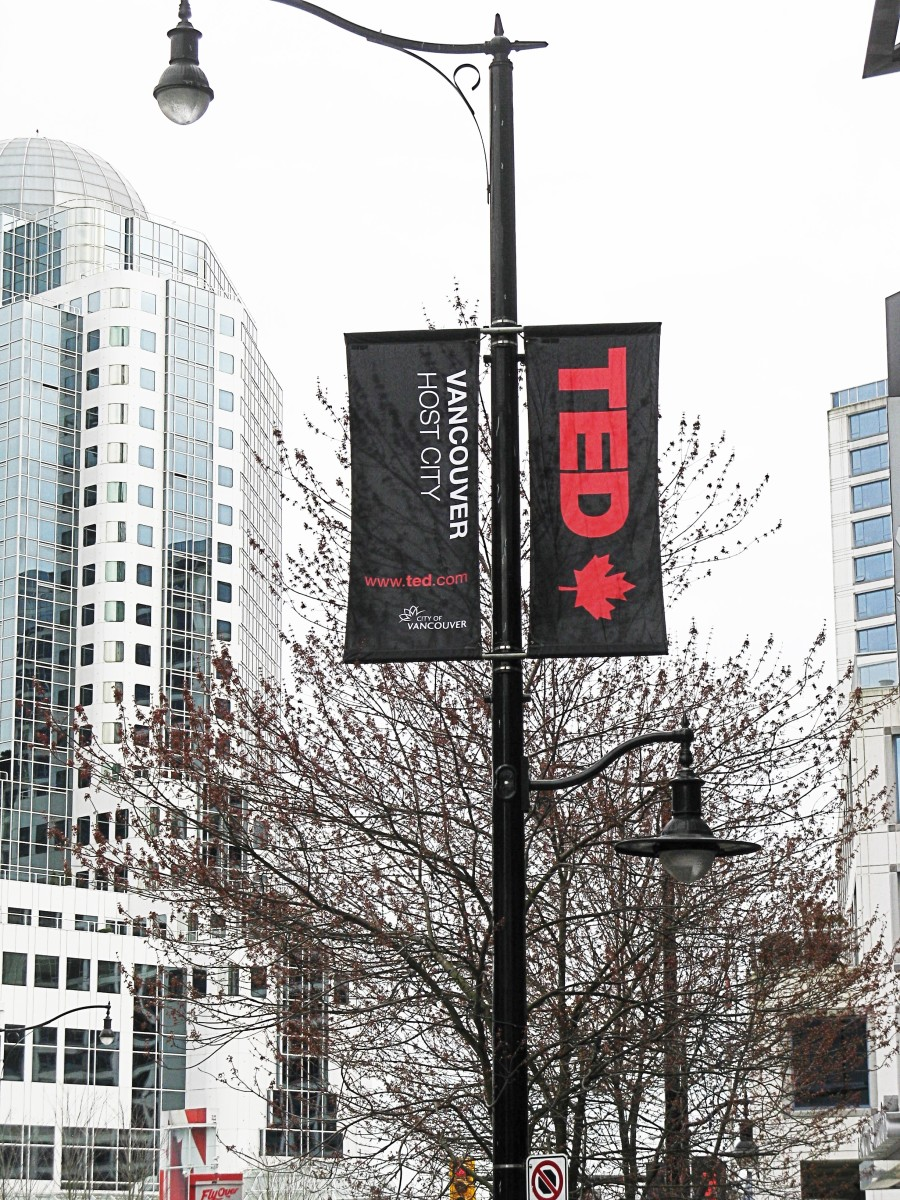 The TED conference in Vancouver takes place in the spring.