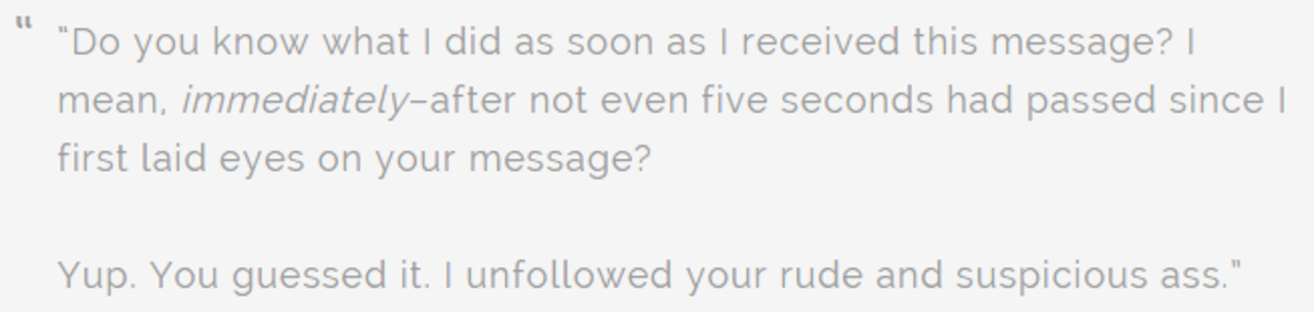 A blogger's view on receiving TrueTwit messages